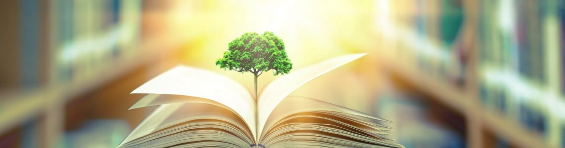Education,Concept,With,Tree,Of,Knowledge,Planting,On,Opening,Old